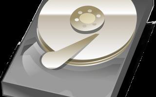 Жесткий диск в разобранном виде
