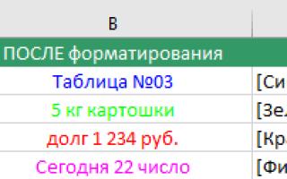 Как сделать формат числа в excel